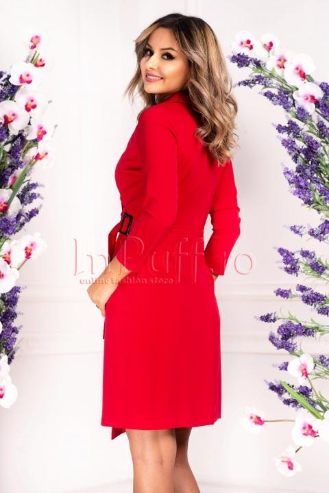 Rochie de zi petrecuta rosie Moze
