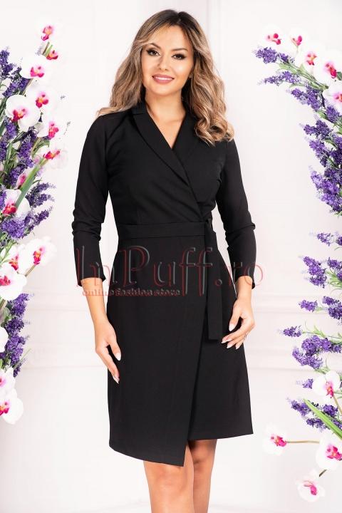 Rochie de zi petrecuta neagra Moze
