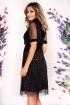 Rochie Moze de ocazie din tul plisat negru