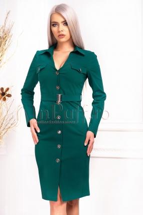 Rochie de zi cu nasturi