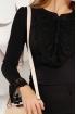 Bluza Fofy eleganta neagra cu dantela aplicata