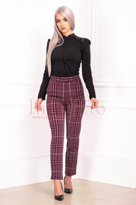 Pantaloni de dama office in carouri