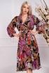 Rochie Effect de zi cu imprimeu floral multicolor si maneca lunga bufanta