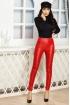 Pantaloni dama Atmosphere rosii cu talie inalta din piele ecologica