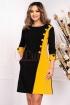 Rochie MBG in doua culori de zi office lejera midi din stofa cu maneca trei sferturi
