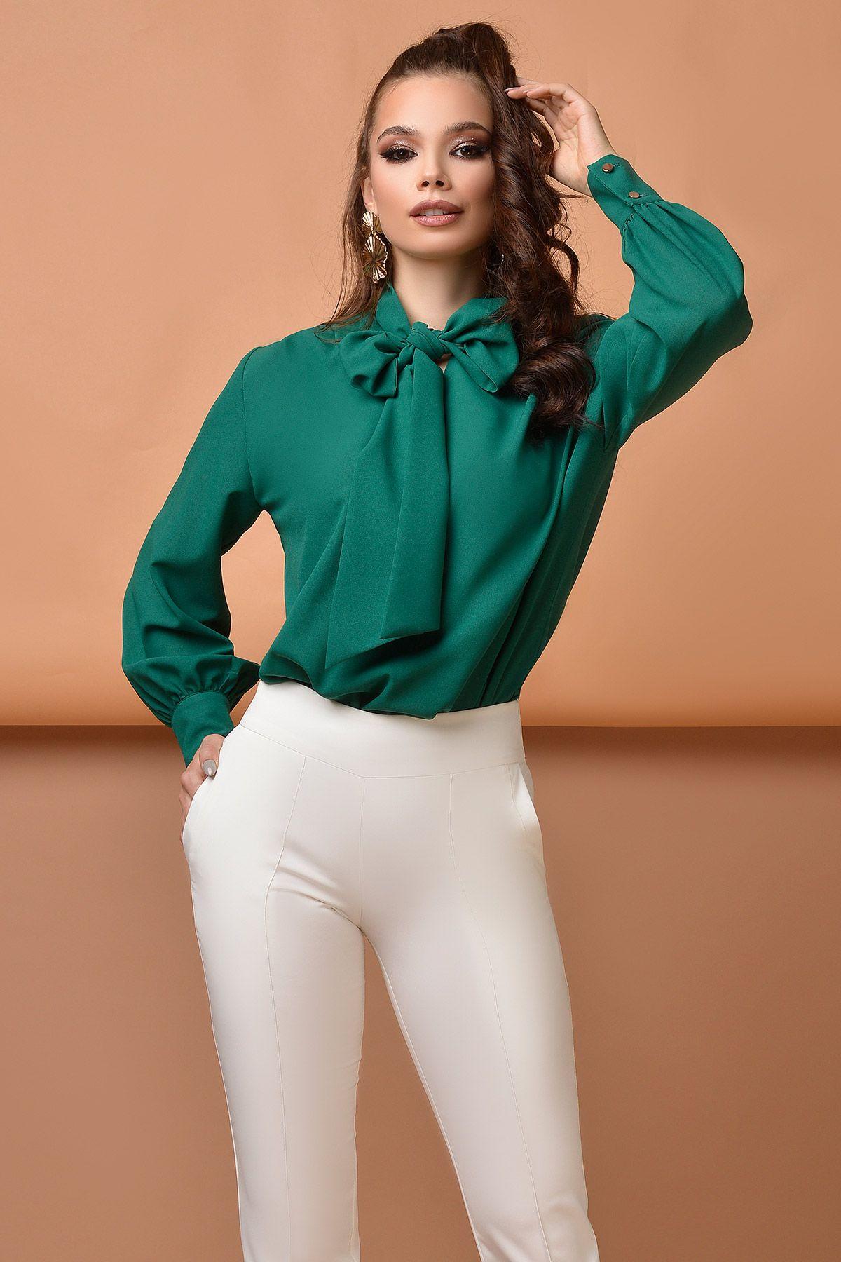 Bluza eleganta din voal Atmosphere verde