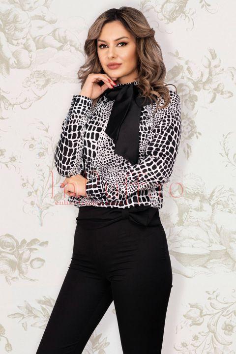 Bluza dama Pretty Girl cu imprimeu zebra
