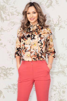Bluza eleganta cu imprimeu floral Pretty Girl