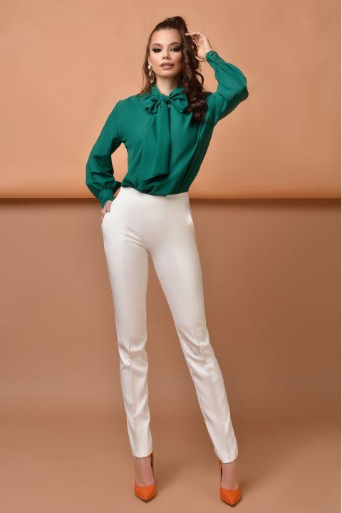 Pantaloni eleganti dama Atmosphere albi conici