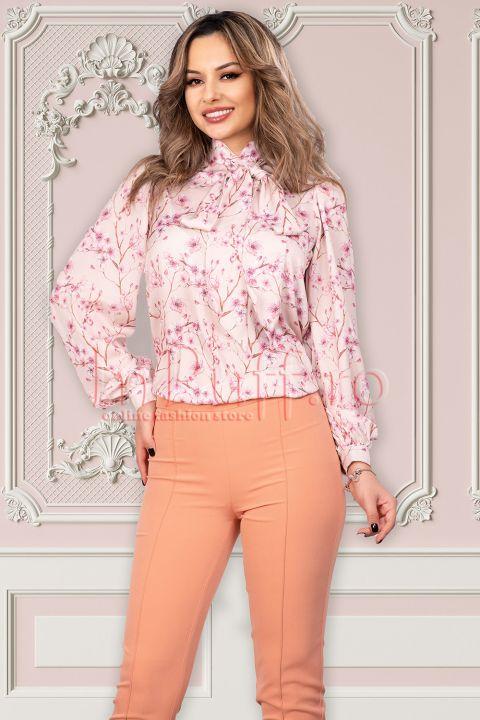 Bluza Pretty Girl cu imprimeu floral si esarfa detasabila