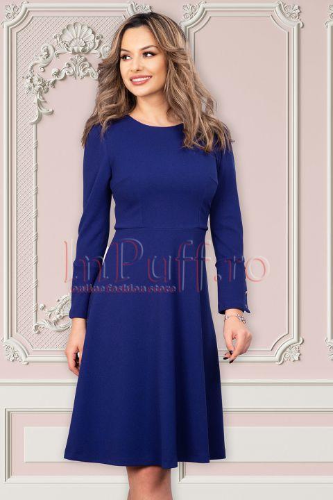 Rochie Moze in clos albastru royal