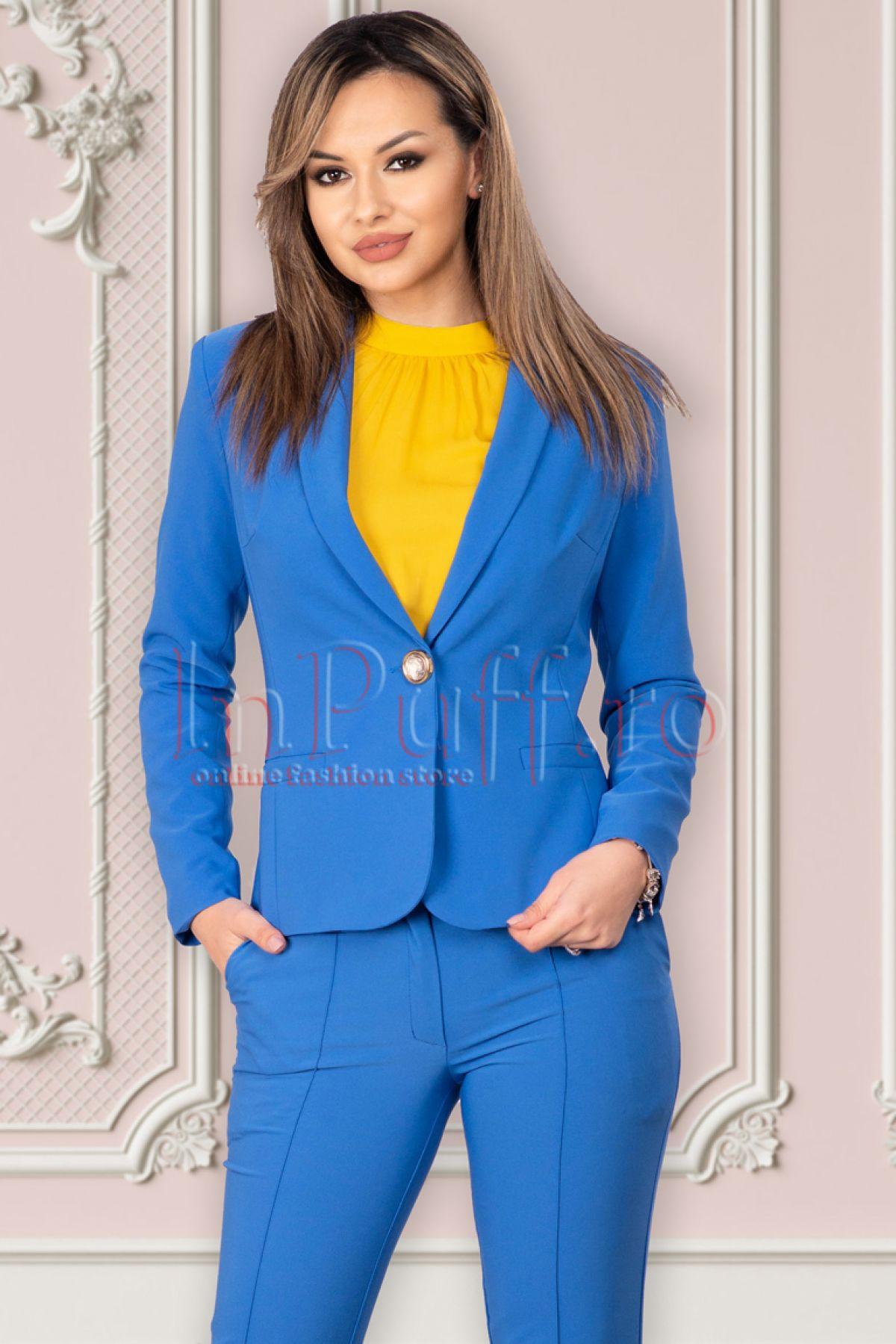 Sacou LaDonna office albastru