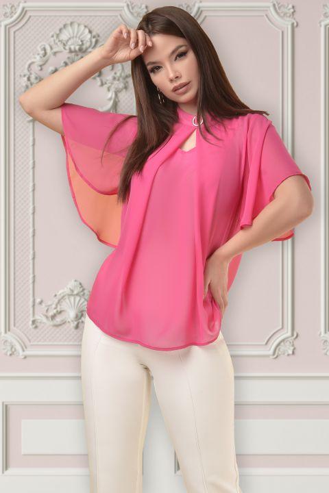 Bluza Atmosphere din voal roz