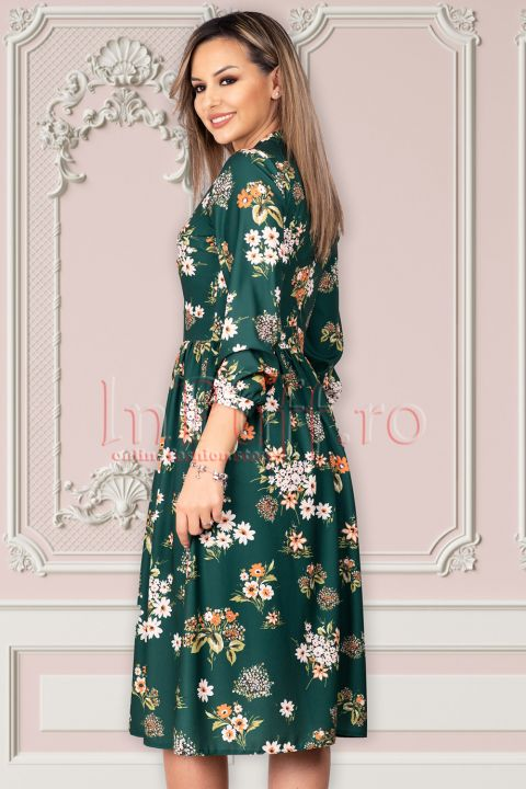 Rochie Moze de zi in clos cu imprimeu floral