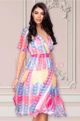 Rochie de zi midi din voal colorat Atmosphere