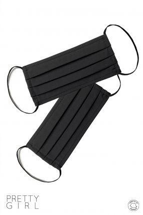 Set 2 masti reutilizabile negre de protectie