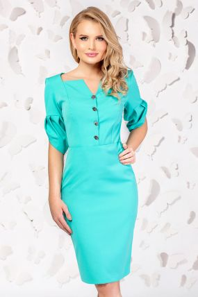 Rochie office conica vernil Pretty Girl