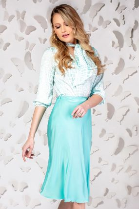 Fusta Pretty Girl mint midi evazata