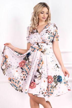 Rochie MBG de zi in clos cu imprimeu floral colorat