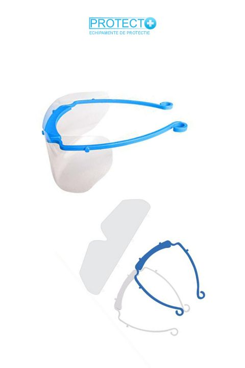 Ochelari de protectie cu vizor detasabil si inlocuibil