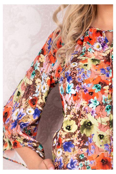 Bluza Effect cu imprimeu floral multicolor
