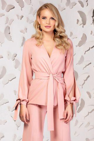 Blazer Pretty Girl roz petrecut cu croi modern