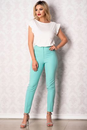 Pantaloni Effect office turquoise