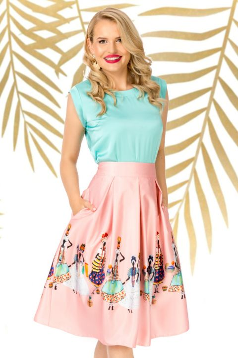 Bluza Pretty Girl eleganta mint din satin