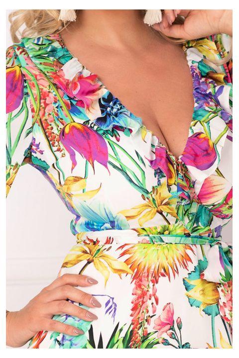 Rochie Artista de vara cu imprimeu floral colorat
