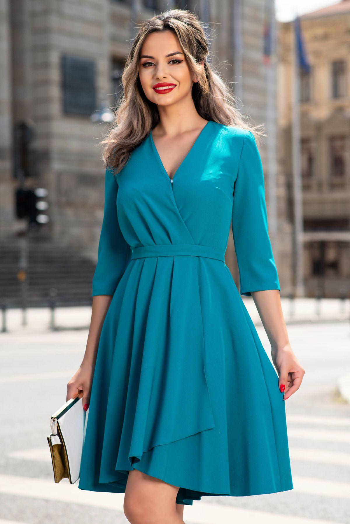 Rochie Xara turquoise petrecuta