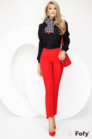 Pantaloni dama conici rosii Fofy