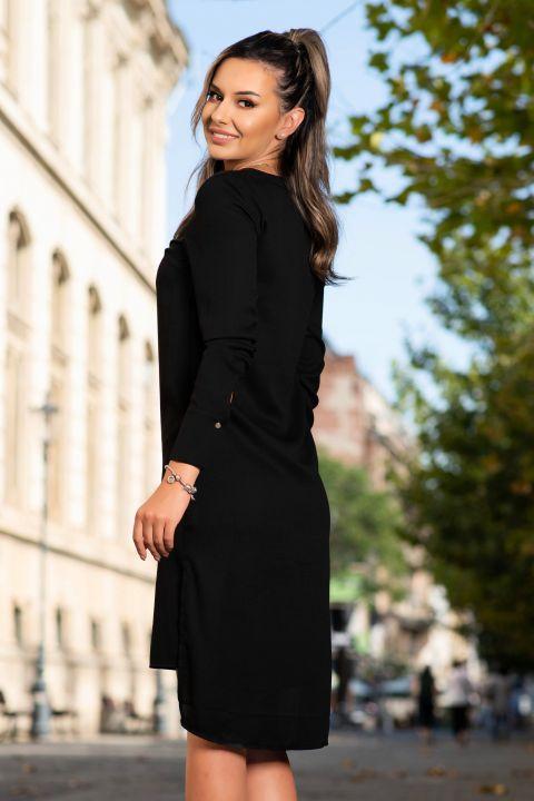 Rochie tunica neagra din tripluvoal