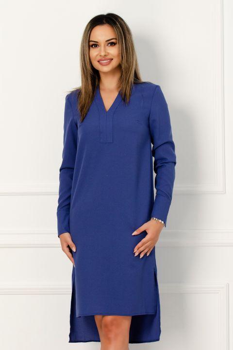 Rochie tunica albastra din tripluvoal