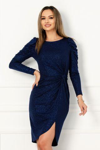Rochie de seara albastra din lycra cu sclipici