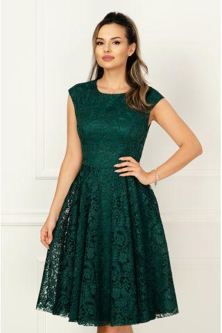 Rochie Effect eleganta verde in clos din dantela
