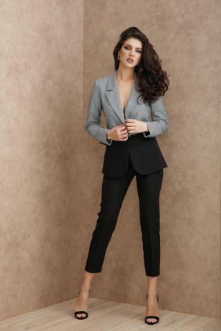 Pantaloni Atmosphere eleganti negri drepti din stofa