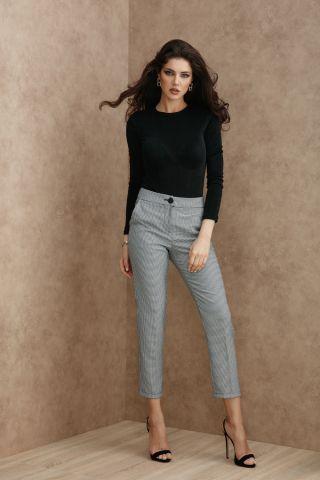 Pantaloni Atmosphere eleganti cu imprimeu pepit