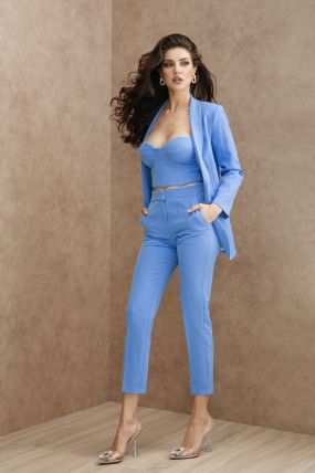 Pantaloni Atmosphere eleganti bleu tip creion