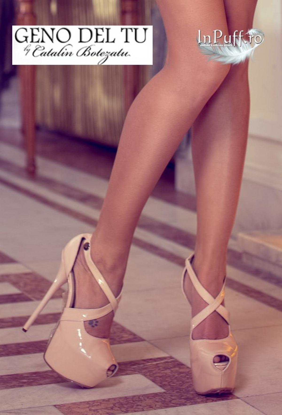 Pantofi din piele naturala lacuita by Catalin Botezatu