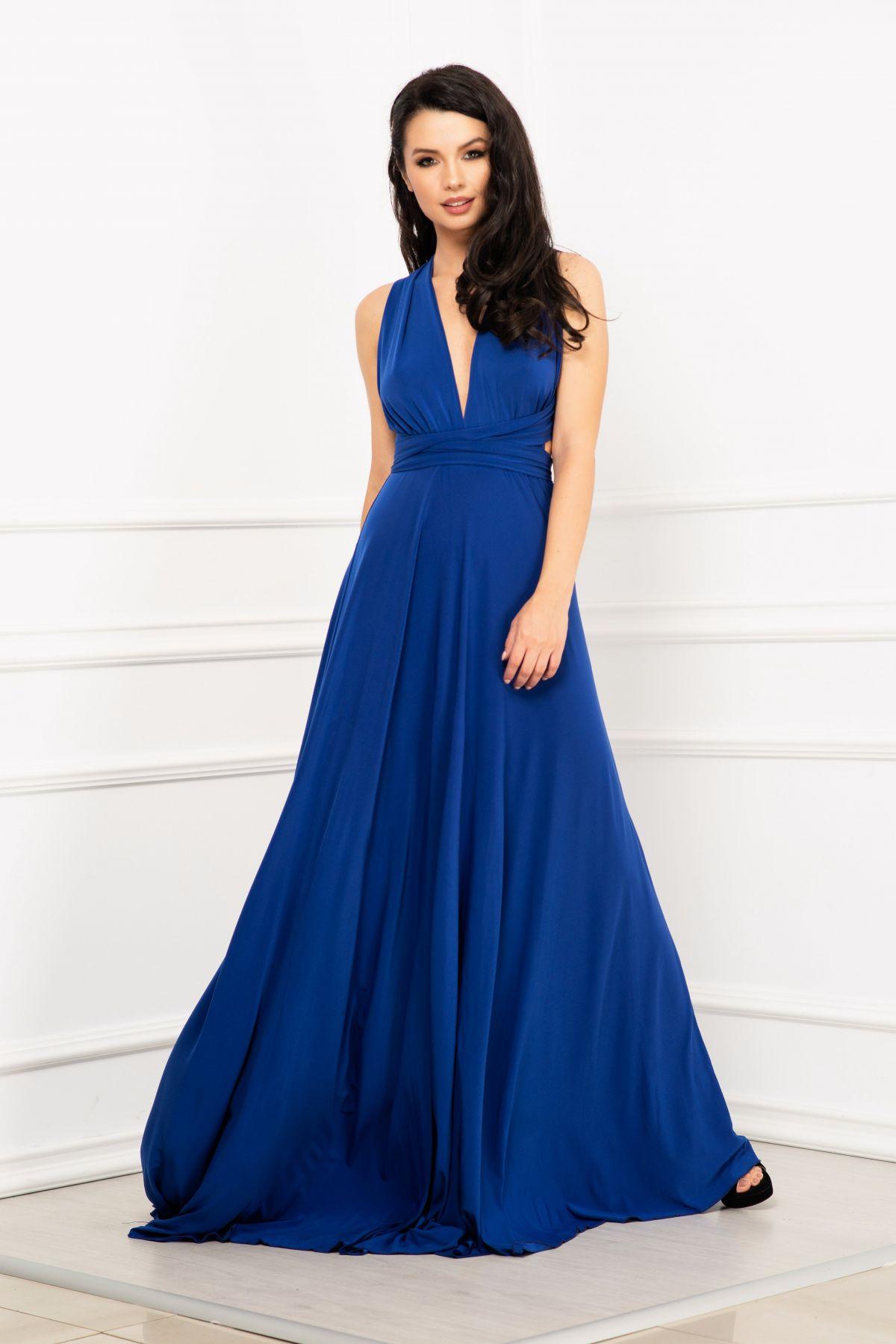 Rochie versatila albastra de domnisoara de onoare