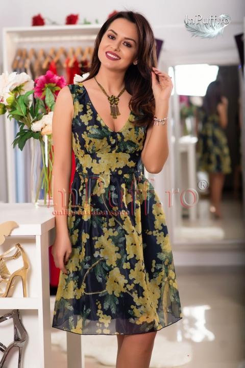 Rochie midi imprimeu floral