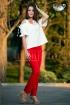 Pantaloni conici rosii