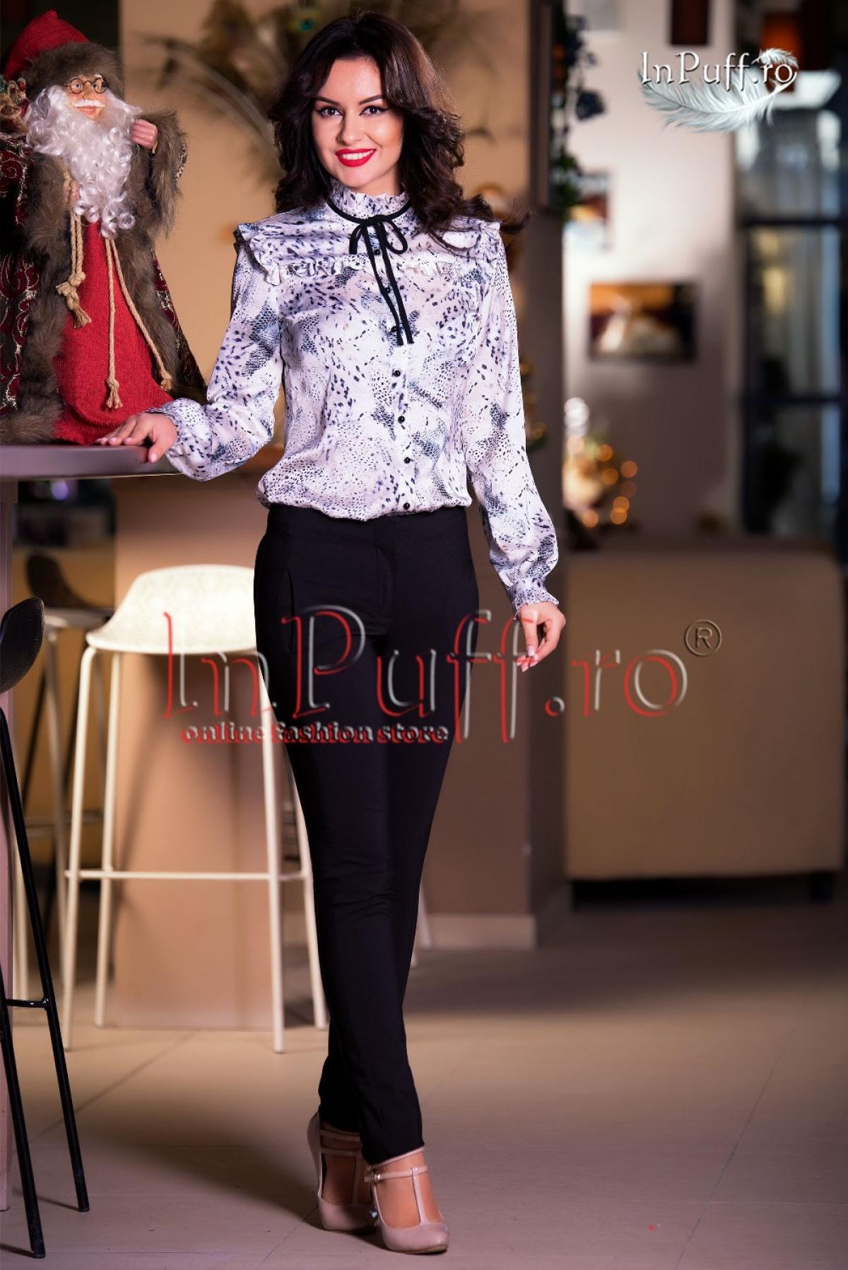 Pantaloni dama eleganti tercot