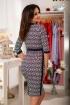Rochie midi cu imprimeu bleumarin