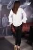 Bluza dama eleganta cu broderie neagra
