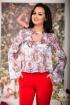 Bluza dama cu imprimeu in nuante roz