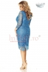 Rochie midi din dantela albastra