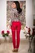 Pantaloni de dama rosu inchis