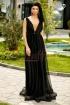 Rochie lunga din tul negru