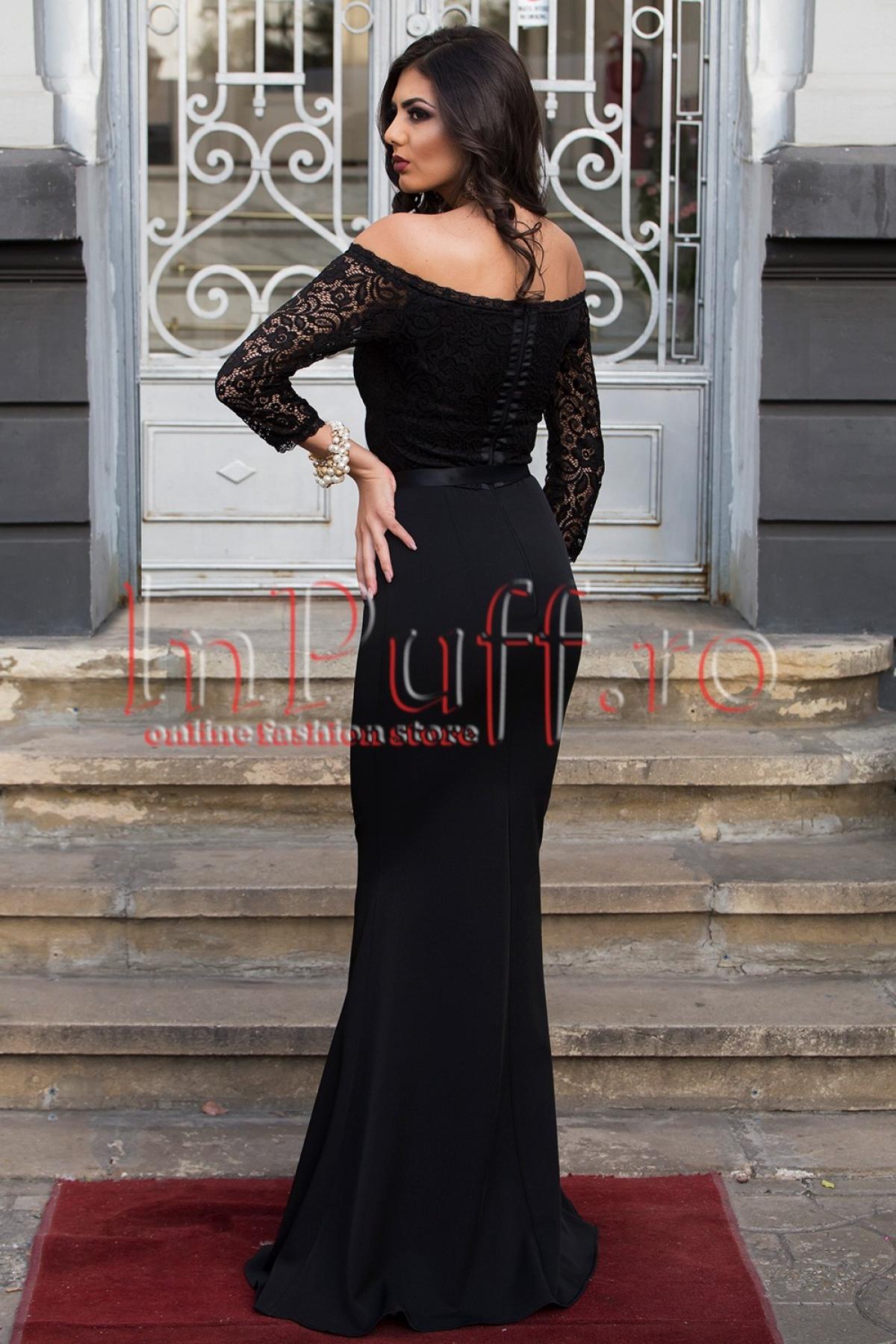 Rochie de seara lunga neagra